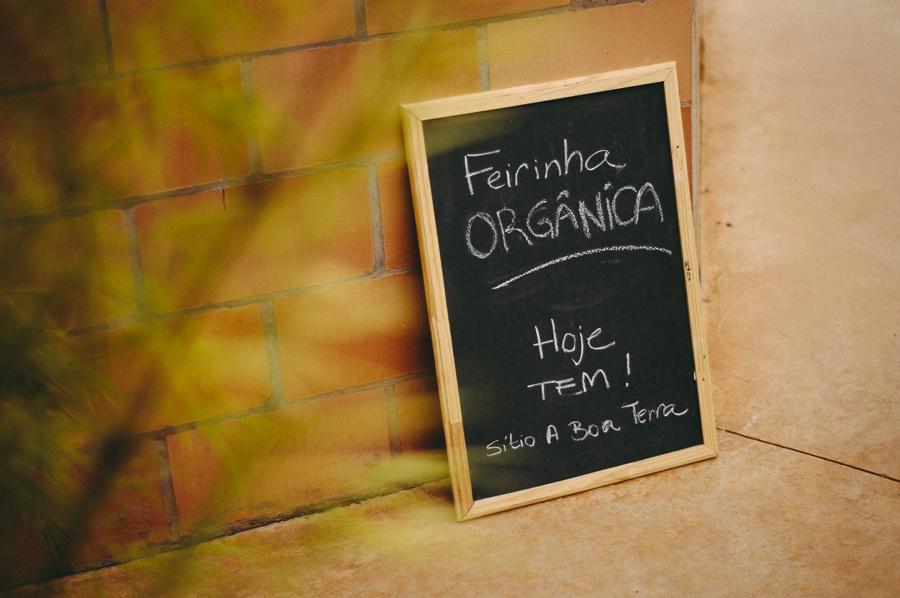 Feira de produtos organicos na Escola Acalanto, feita pelo Sítio A Boa Terra